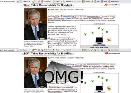Bush Takes Responsibility?