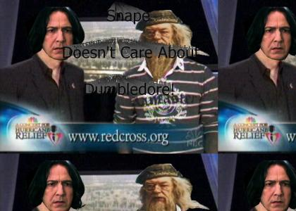 Snape doesn't care about Dumbledore