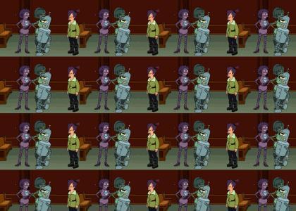 Bender Pimps a Couple of Fem-Bots. Futurama Owns.