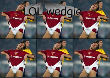WTF Soccer Wedgie!!