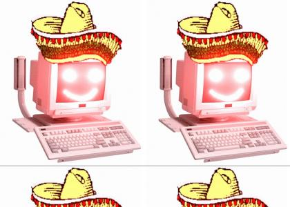sombrero computer with laser eyes?