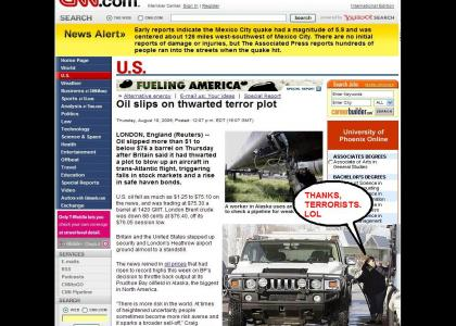 Terrorists Help USA