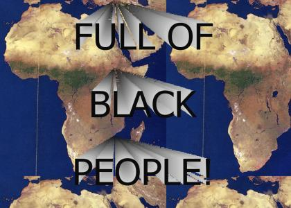 Full of black people