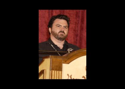 Game Designer Tim Schafer gets heckled.