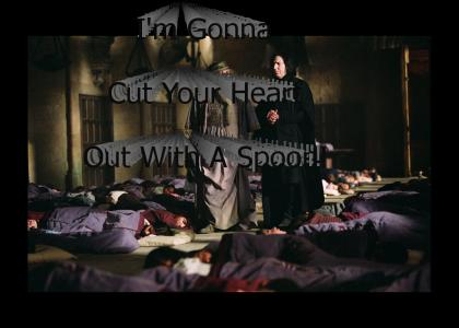 Snape Killed Dumbledore With A Spoon!