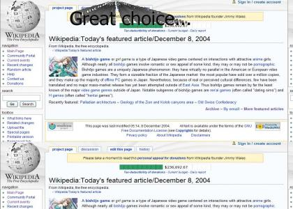 Wikipedia Choice Featured Article