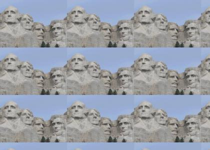 Mount Rushmore doesn't change Facial Expressions