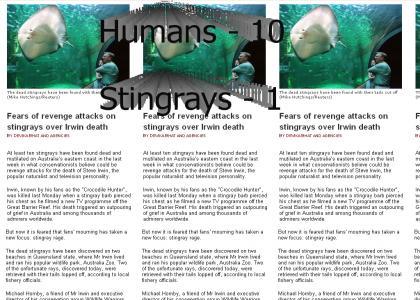 Humans Take the Lead vs. Stingrays