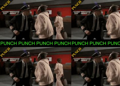 PUNCH: Airplane Punch (scene in airplane set to keaton music)