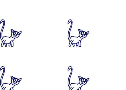 The kitten is running..