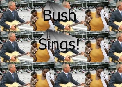 George Bush SINGS AND CARES about black people!