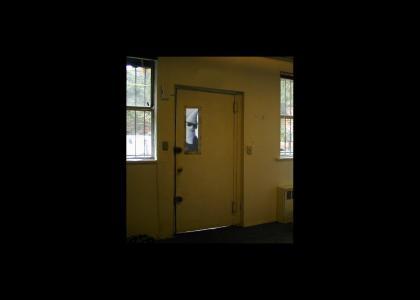 Get the door- It's Moon Man!