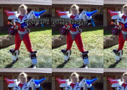 Power Ranger fails at cosplaying