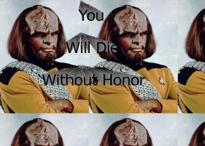 Worf Likes Honor