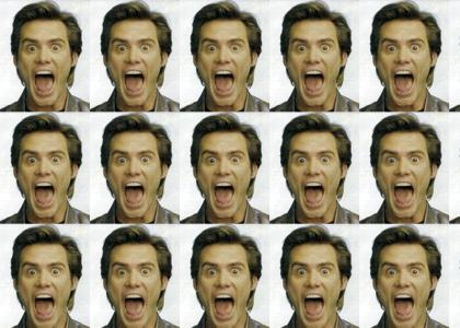Jim Carrey changes facial expressions