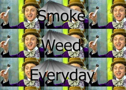 Wonka Smokes Weed