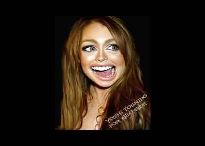 Lindsay Lohan changed facial expression