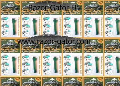 Razor Gator !! Cleans Disposable Razors