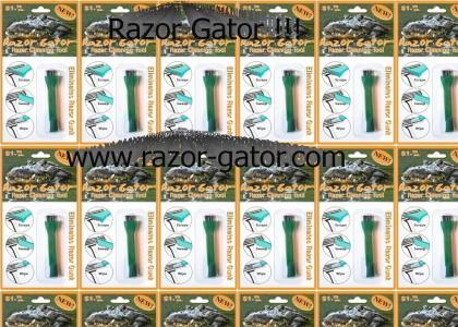 Razor Gator !! Cleans Disposable Razors