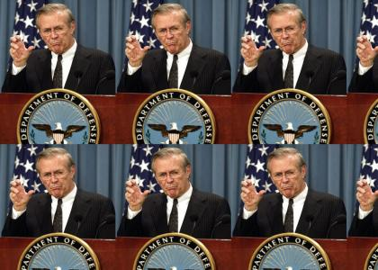 Donald Rumsfeld will claw your face