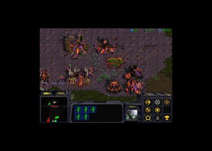 Starcraft - 24 simultaneous nukes