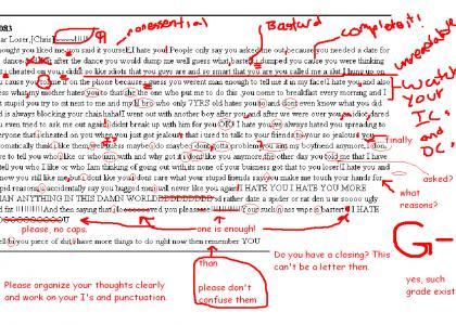 Dramatic Break-Up letter corrected.
