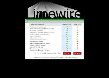 Limewire Pro had one weakness....