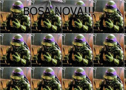 Donatello can't think of any good phrases.