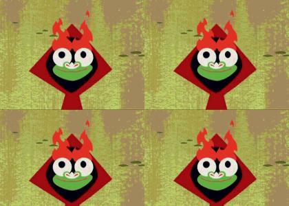 GREAT FLAMING EYEBROWS!