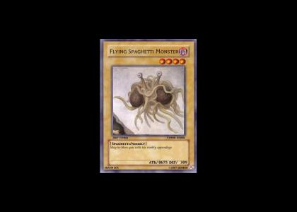 ytmnd card: flying spaghetti monster