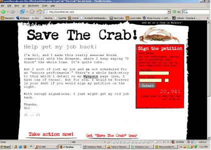 Save the Crab