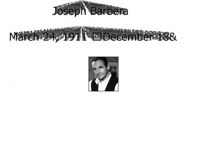 RIP Joseph Barbera