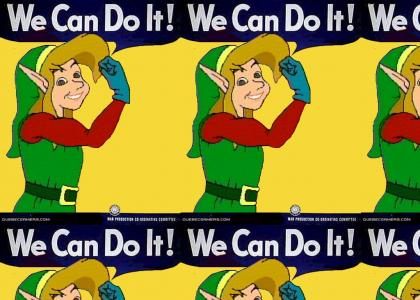 Zelda CD-i - Link supports Women in The War Effort