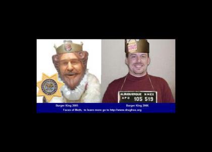 Furry King faces o meth