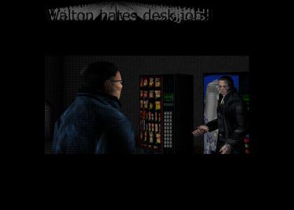 Walton Simons denies having a desk job