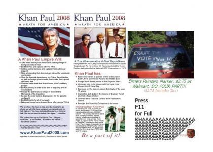 VOTE KHAN PAUL 2008!!!