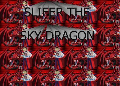 Yugi and SLIFER THE SKY DRAGON