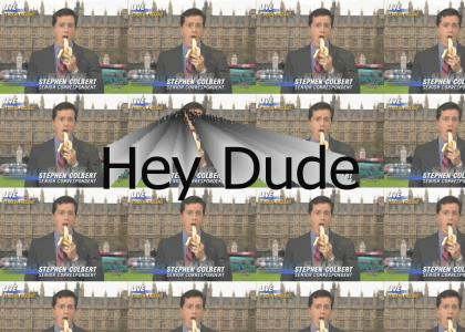 Colbert was thinking...
