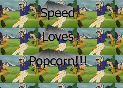 Speed Racer Loves Popcorn