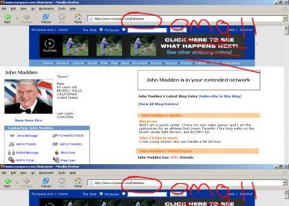 John Madden Hates Jews!!!