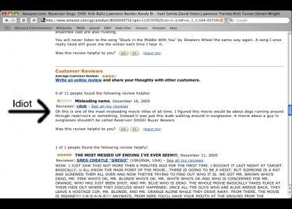 Reservoir Dogs misleading?