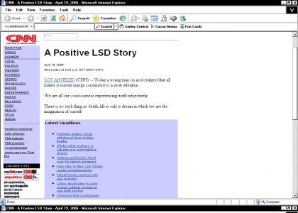 CNN - A Positive LSD Story