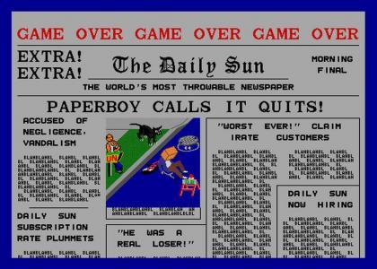 Paperboy Calls It Quits