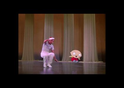 Stewie and Gene Kelly break it down