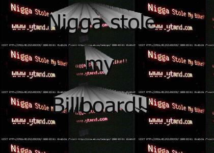 Nigga Stole Times Square Billboard!!!