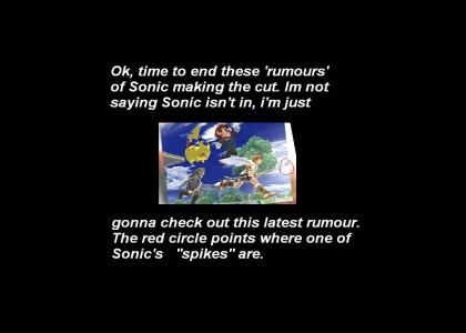 Sonic in SSBB Disproven