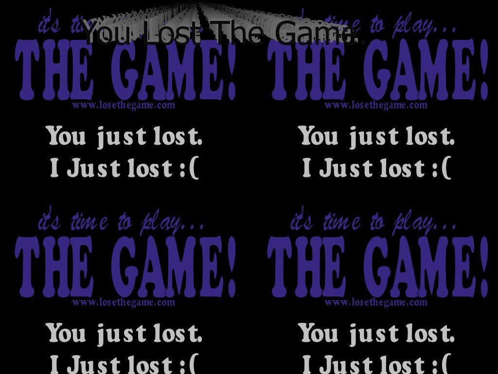 losethegame