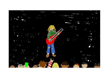 how i did play guitar by kurt age 9