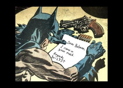 BAD NEWS FOR BATMAN