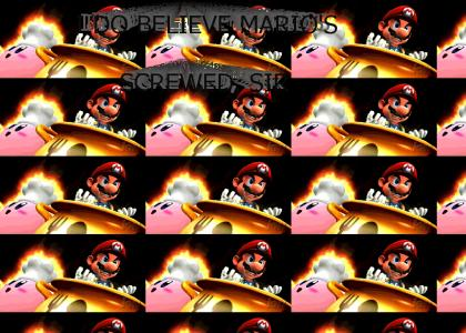 Kirby Cooks Mario ALIVE (Smash Bros. Brawl)*UPDATED with new GIF!*
